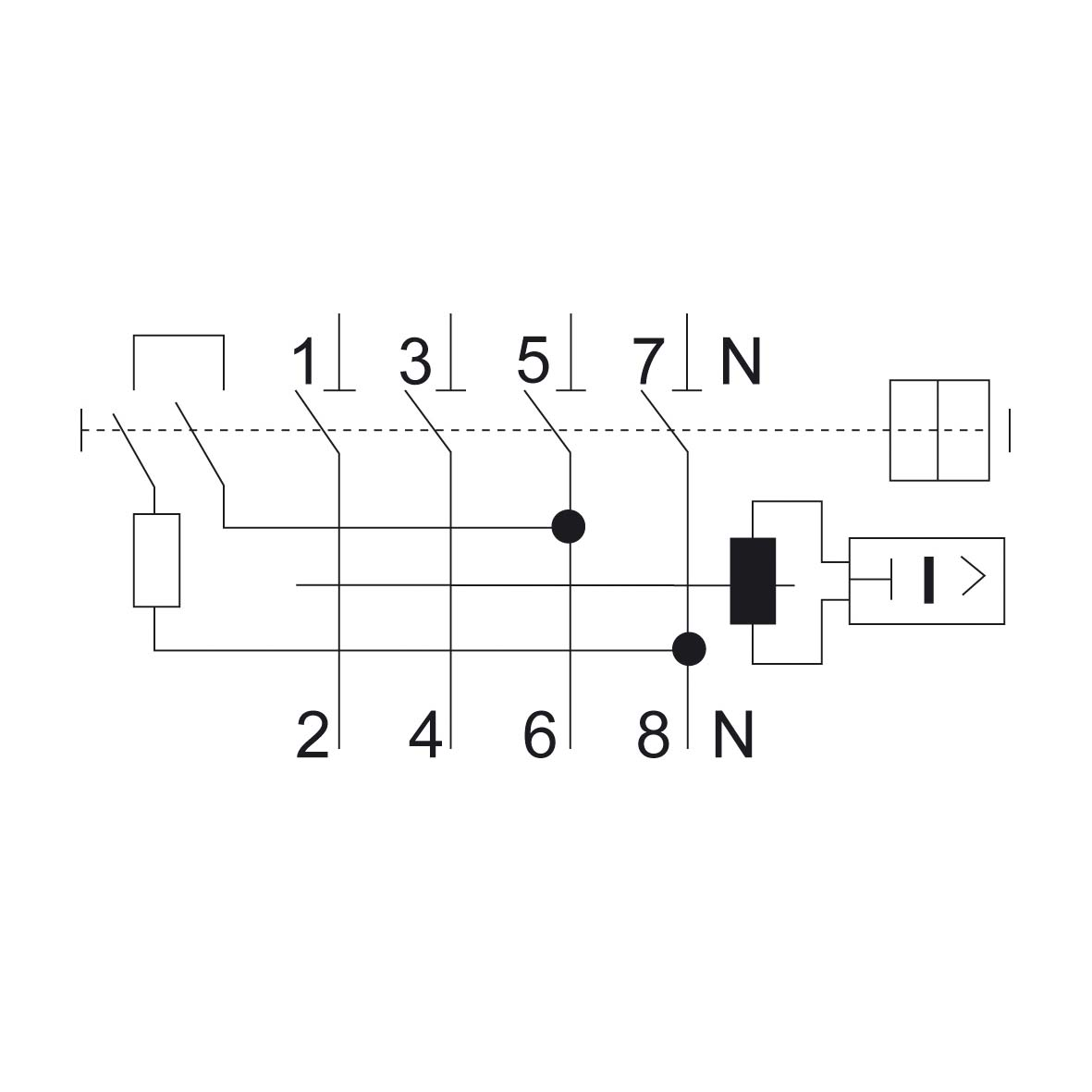 RCCB 4-pole Type A